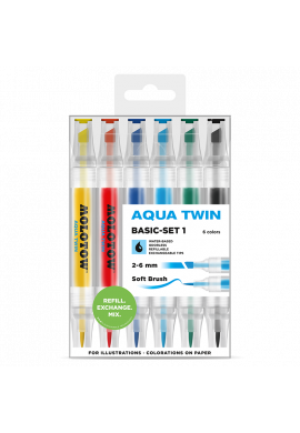 "SET Rotuladores MOLOTOW ""Aqua Twin"" Basic Set 1"