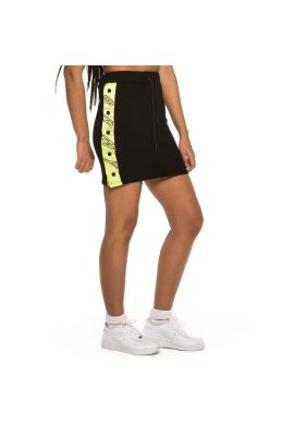 "Minifalda chica GRIMEY ""Steamy Blacktop"" black / lime"