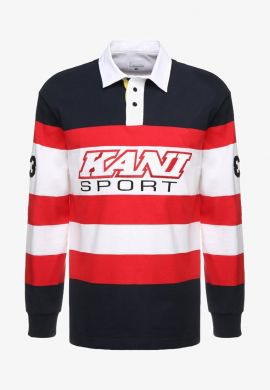 "Polo KARL KANI ""Block Rugby"" white/blue/red"