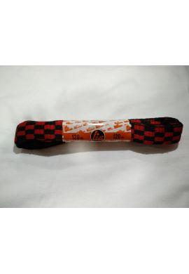 Cordones zapatillas anchos 120 cms (Cuadros rojos / negros)