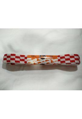 Cordones zapatillas anchos 120 cms (Cuadros Rojos y blancos)