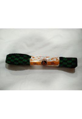Cordones zapatillas anchos 120 cms (Cuadros verdes / negros)
