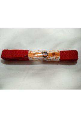 Cordones zapatillas anchos 120 cms (Rojo vivo)
