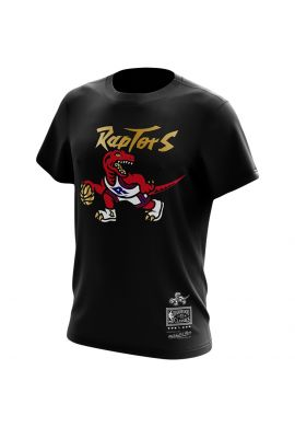 "Camiseta Mitchell & Ness ""Toronto Raptors"" Black - gold"