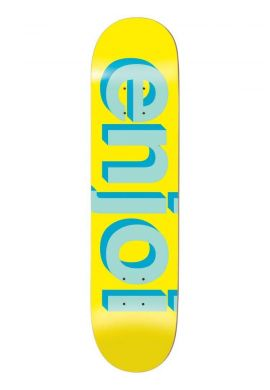 "Tabla skateboard ENJOI ""Helvetica "" yellow"