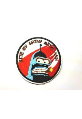 "Parche ropa ""Bender-Futurama"" (Bite my shiny metal ass)"