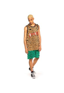 "Camiseta tirantes GRIMEY ""Yanga"" mesh camel"