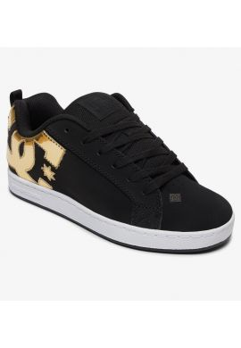 "Zapatillas chica DC ""Court Graffik"" black / gold"