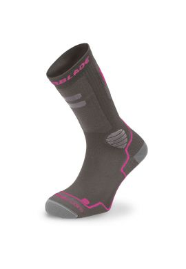 "Calcetines patinaje Rollerblade ""High Performance"" gris rosa"
