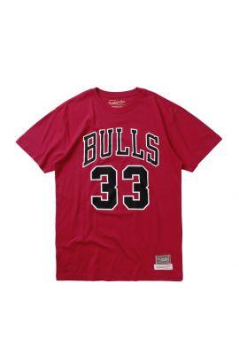 "Camiseta Mitchell & Ness Chicago Bulls ""Number 33"" red"
