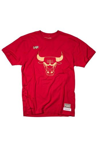 "Camiseta Mitchell & Ness Chicago Bulls ""Midas"" red gold"