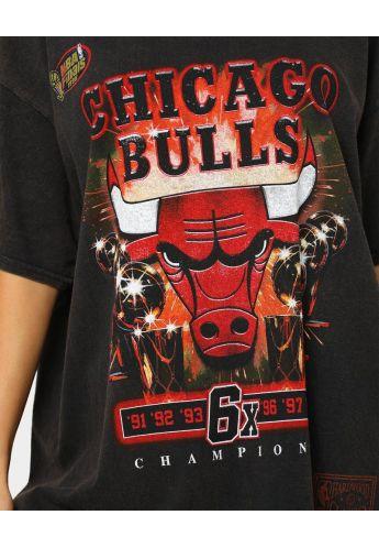 "Camiseta Mitchell & Ness Chicago Bulls ""The last dance Champs X6"" black"