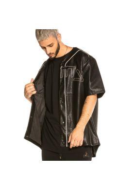 "Camiseta beisbolera GRIMEY ""Call of Yore"" black pu leather"