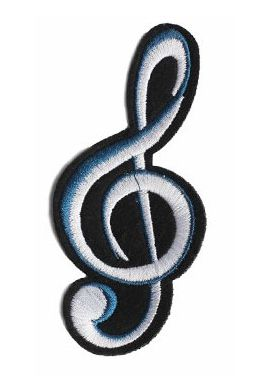 "Parche Ropa ""G Note - Nota musical"" blue black"