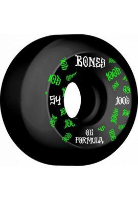 "Ruedas skateboard BONES ""100´s 54 mms"""