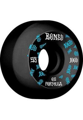 "Ruedas Skateboard BONES ""100´s 53 mms"""
