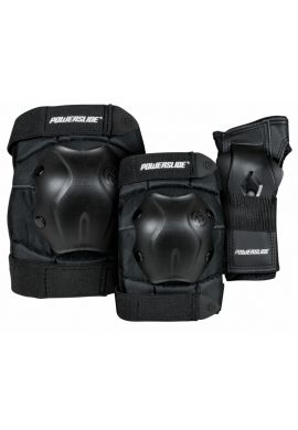 Pack Protecciones patinaje POWERSLIDE PS Standard black ""