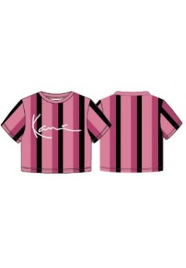 "Camiseta top chica KARL KANI ""Signature Stripe"" pink"