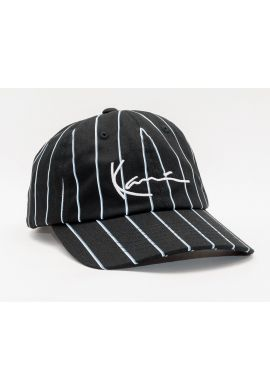 "Gorra semicurva KARL KANI ""Signature Pinstripe"" black stripes"
