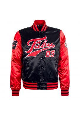 "Chaqueta bomber FUBU ""College Jacket"" red black"
