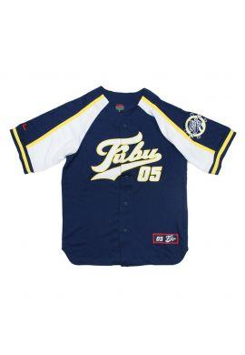 "Camiseta beisbolera FUBU ""Varsity"" blue yellow"