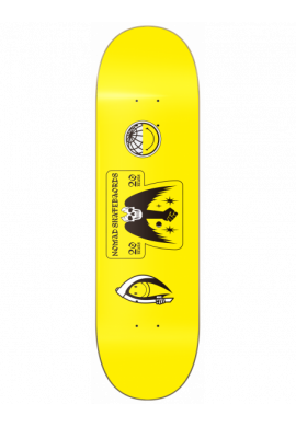 """Tabla skateboard NOMAD """"Smile for your rights"""" yellow"""