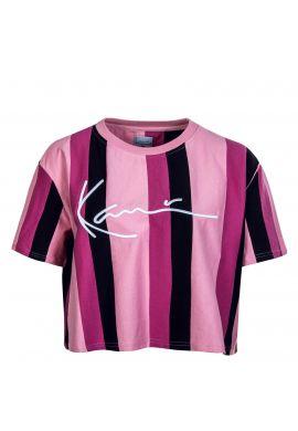 """Camiseta top chica KARL KANI """"Signature Stripe"""" pink"""