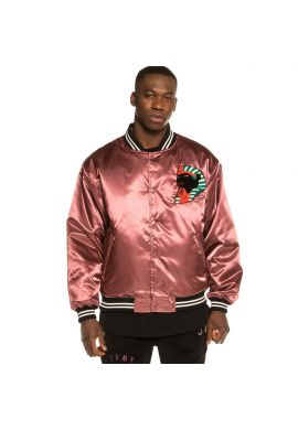 "Chaqueta bomber unisex reversible GRIMEY ""Call of Yore"" black pink satin"
