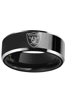 """Anillo titanio """"Las Vegas Raiders"""" black silver"""