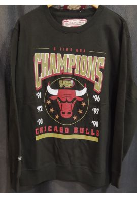 "Sudadera crewneck Mitchell & Ness ""Chicago Bulls"" 6 Time Champions"
