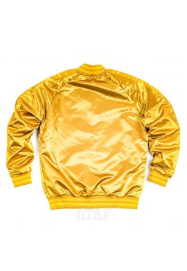 """Chaqueta Bomber Mitchell & Ness """"Color Satin blocked Los Ángeles Lakers"""" old gold"""