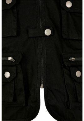 Chaleco vaquero con bolsillos URBAN CLASSICS TB3197 black