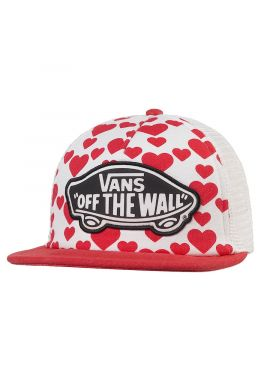 "Gorra trucker plana VANS ""Beach Girl Hearts"""