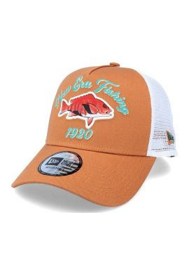 "Gorra trucker NEW ERA ""Fishing"" toffee white"