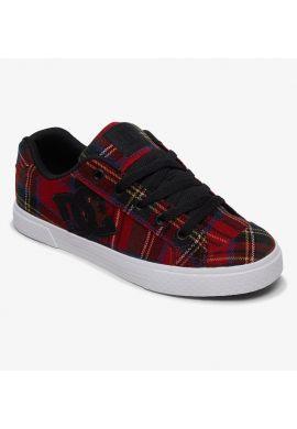 Zapatillas chica DC Chelsea cuadros escoceses