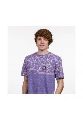 "Camiseta Hydroponic ""Smiley"" heather blue"
