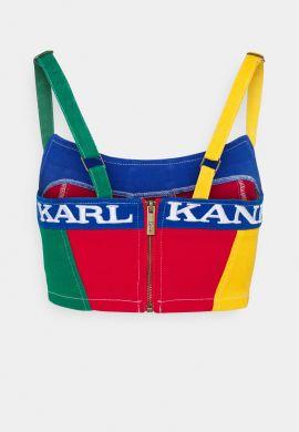 """Top vaquero chica KARL KANI """"Block Top"""" multicolor"""