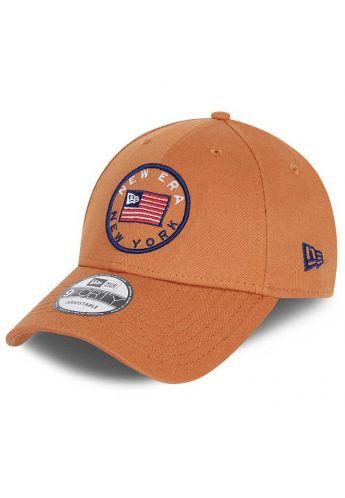 "Gorra curva NEW ERA ""US Flag Pack"" brown"
