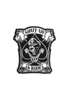"Parche ropa ""Shut up & Ride"""