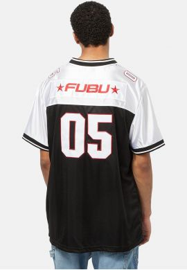 "Camiseta fútbol americano FUBU ""Corporate"" black white"