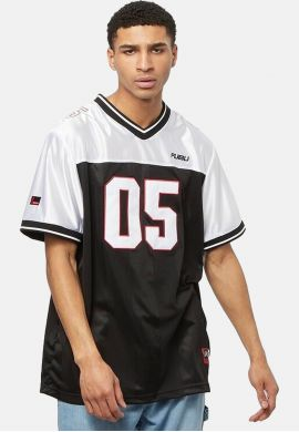 "Camiseta fútbol americano FUBU ""Corporate"" black white"