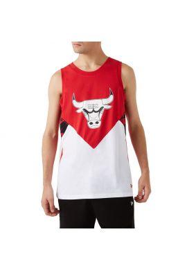 """Camiseta tirantes NEW ERA """"Chicago Bulls Oil Slick"""" red white"""