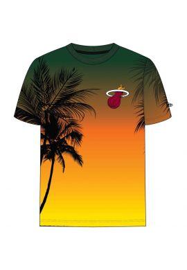 "Camiseta NEW ERA ""Summer City Miami Heat"" green yellow"