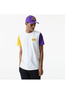 "Camiseta NEW ERA ""Los Ángeles Lakers color block sleeve"""