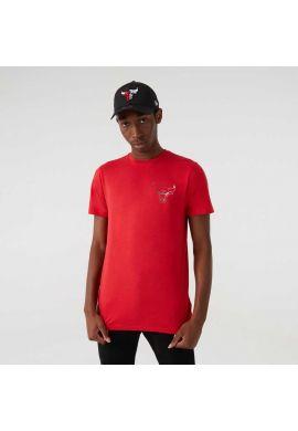 "Camiseta NEW ERA ""Nba Fade Logo Chicago Bulls"" red grey"