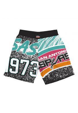 "Pantalones cortos Mitchell & Ness ""Jumbotron San Antonio Spurs"" sublimated"