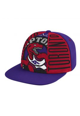 "Gorra plana Mitchell & Ness ""Big Face Callout Toronto Raptors"" purple red"