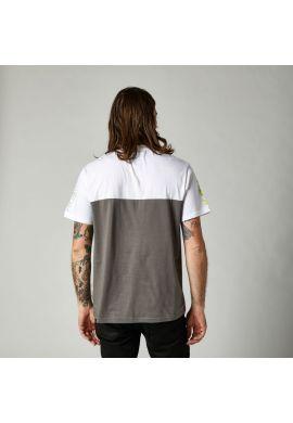 "Camiseta FOX ""Skew SS Crew"" white grey"