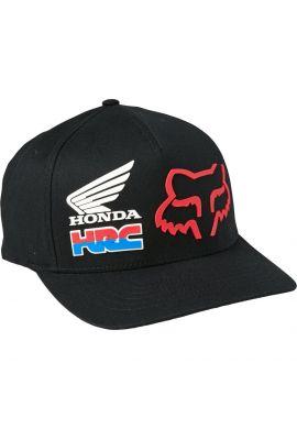 "Gorra flexfit cerrada FOX ""Honda HRC"" black red"