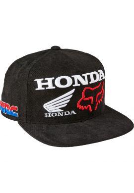 "Gorra plana snapback FOX ""Honda HRC"" black"
